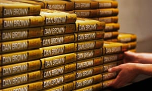 stacks of copies of Dan Brown's 'The Lost Symbol' which went on sale today in London