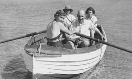 Attlee boating with his family in 1938