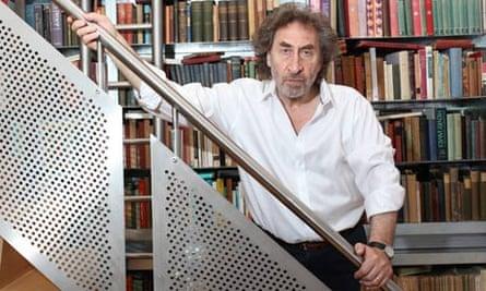 Howard Jacobson in his loft in Soho