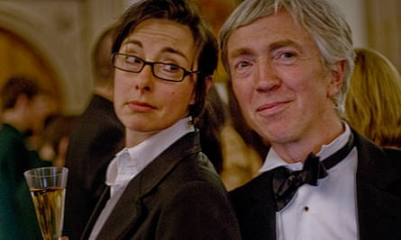 Sue Perkins and John Mullan at the Booker prize dinner