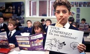 Boy in French class