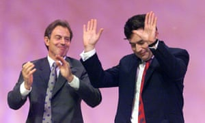 Blair and Brown at the Labour party conference, 1999