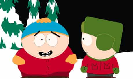 Cartman and Kyle from the TV cartoon series South Park