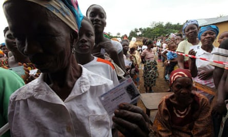 Liberians queue to vote in presidential elections