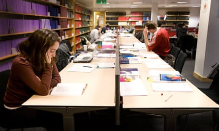 Students studying at BPP University College, London.