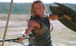 Unsung hero … Madeline Miller shows us another side to Achilles, played by Brad Pitt in Troy (2004)