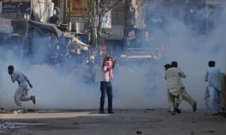 A protest in Karachi