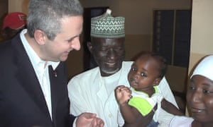 Ivan Lewis, the shadow development secretary, during a trip to Nigeria