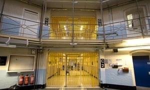 The entrance to a block in Wandsworth prison