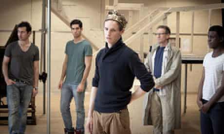 Ben Turner, Stefano Braschi, Eddie Redmayne, Phillip Joseph, Ashley Zhangazha rehearse Richard II