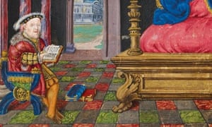 Henry VIII as David, Henry VIII's Psalter (c1540)