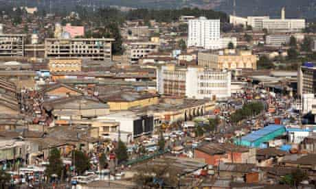 The Mercato, the commercial hub of the Ethiopian capital, Addis Ababa