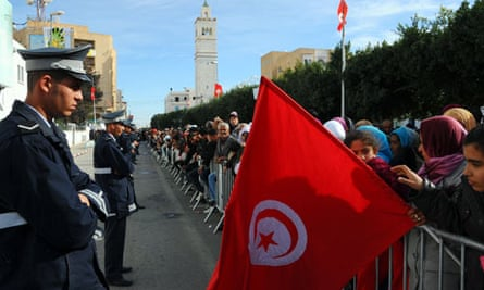 Tunisians celebrate the first anniversary of the revolution
