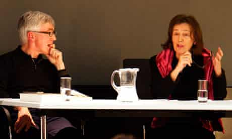 John Mullin and Claire Tomalin at the Guardian book club.