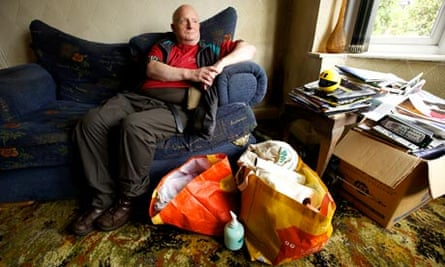Arthur Porter at his Coventry home after he received help clearing up.