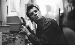 Jack Kerouac listens to a radio broadcast in 1959