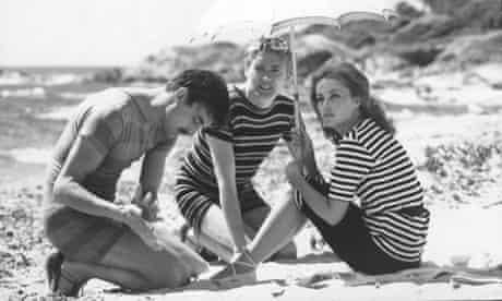 Henri Serre, Oskar Werner and Jeanne Moreau in Jules et Jim