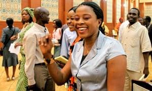 Sudanese women smile