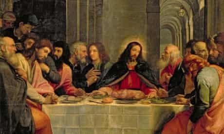 Painting of the Last Supper by Carducci Bartolome