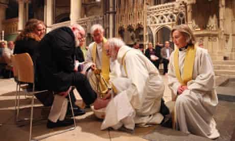 Maundy Thursday Archbishop of Canterbury, Rowan Williams,