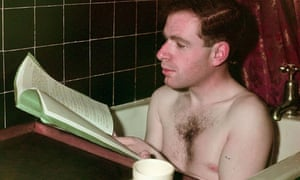 Peter Brook reading a script in the bath