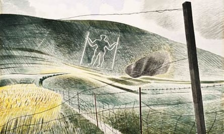 Detail of The Wilmington Giant by Eric Ravilious