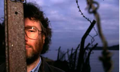 Iain M Banks near his home by the Forth Bridge