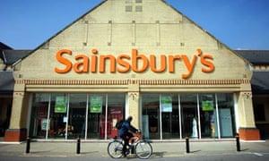 Ball and chain ... a Sainsbury's store in Barnstaple, north Devon.