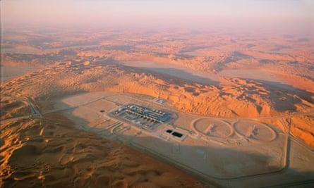 Cultural desert? ... an oil refinery in the Saudi Arabian dunes.