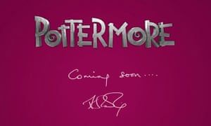 The front page of JK Rowling's new Harry Potter website, Pottermore