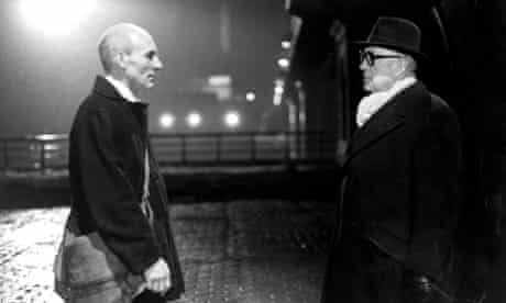 Patrick Stewart and Alec Guinness in the 1979 TV adaptation of Tinker, Tailor, Soldier, Spy.