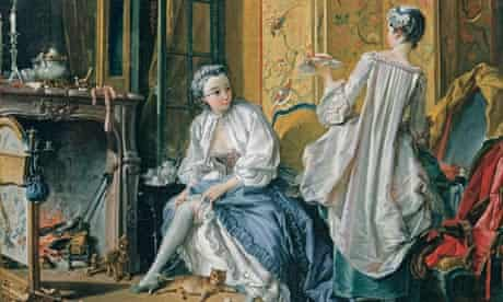 Detail of Lady Fastening Her Garter (also known as La Toilette), 1742, by François Boucher