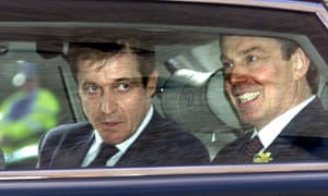 Alastair Campbell with Tony Blair in Inverness in 2001