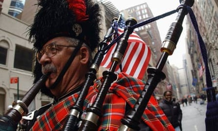 Pipers celebrate Tartan Day in New York City