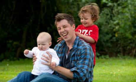 Matt Gaw with his children