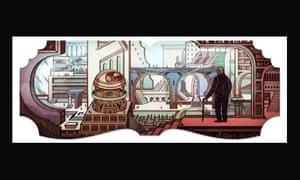 Google doodle for Jorge Luis Borges