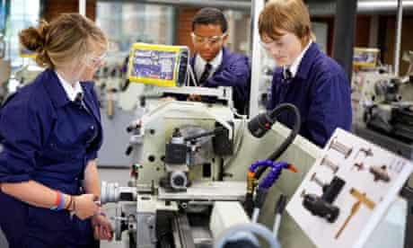 Students hone their skills at the JCB academy's well-equipped workshop