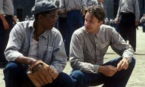 Prison rules ... Morgan Freeman as Red and Tim Robbins as Andy Dufresne in The Shawshank Redemption.