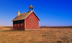 Feud for thought  ... a schoolhouse on a midwestern prairie.