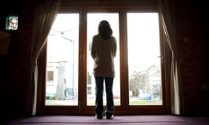 An anonymous woman at a centre in Bristol for victims of domestic violence
