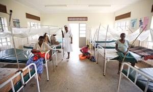 A maternity ward in Katine, Uganda