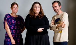 Tanya Gold, centre, with Suzanne Clements and Inacio Ribeiro