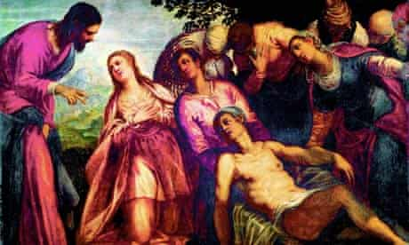 The Raising of Lazarus by 16th-century Venetian artist Tintoretto
