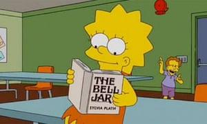 Lisa Simpson reads The Bell Jar