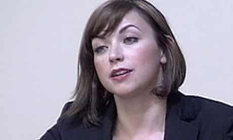 Singer Charlotte Church speaking at the Leveson inquiry in London