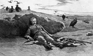 Illustration of Geneneral Gordon depicting his death in Khartoum