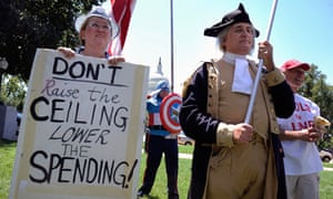 Tea Party supporters rally in Washington