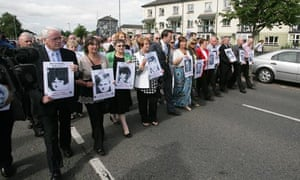 Familles and friends of those killed on Bloody Sunday march in Derry last year
