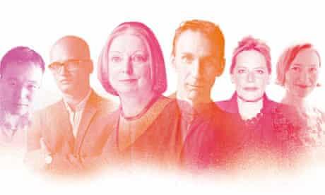 The six Mann Booker authors