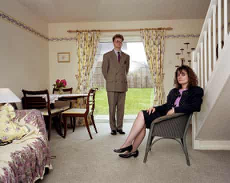 A couple in their suburban home, from Martin Parr's album Signs of the Times, England, 1991
